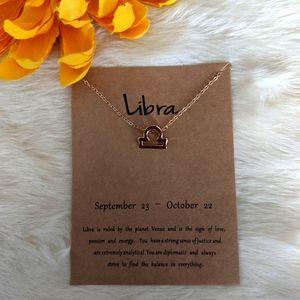 Jewelry - Libra Horoscope Astrology Symbol Necklace